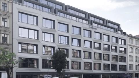 Rieder's sculptural concrete cladding wraps Berlin office block|Rieder的雕塑混凝土立麵包裹著柏林辦公大樓