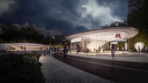 Moscow metro station|Zaha Hadid