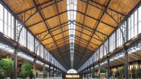 Gare Maritime in Brussels turned into a timber shopping centre|布魯塞爾的Gare Maritime變成了木材購物中心