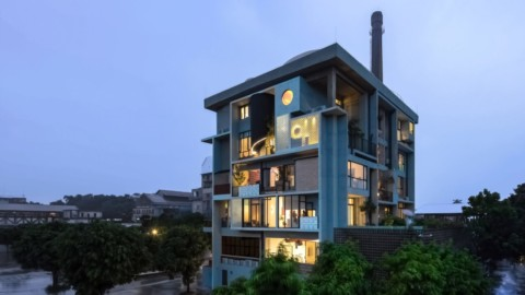 Fei Architects designs apartment block that frames residents' daily lives in Guangzhou Fei Architects設計的公寓樓反映了廣州居民的日常生活