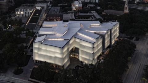 Glass tubes and curvy roofs play with light in Steven Holl's Houston arts museum|史蒂文·霍爾(Steven Holl)的休斯頓藝術博物館(Houston Art Museum)的玻璃管和彎曲的屋頂充滿了光線