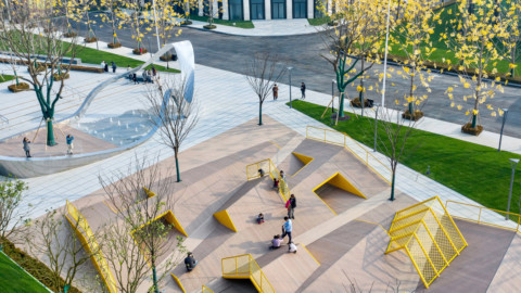 Atelier Scale designs The Folds playground to encourage tactile play|Atelier Scale設計Folds遊樂場以鼓勵觸覺遊戲