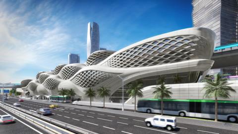 King Abdullah Financial District Metro Station Zaha Hadid Architects