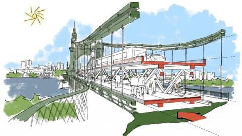 Foster + Partners presents idea for double-decker Hammersmith Bridge|Foster + Partners提出了雙層Hammersmith Bridge的想法