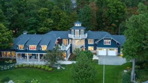 $8.3M Lake Michigan Summer Home by Architect Tom Dobbins in Fish Creek, WI|威斯康星州密歇根州菲什克里克市的建築師湯姆·多賓斯(Tom Dobbins),耗資830萬美元的密歇根湖避暑別墅