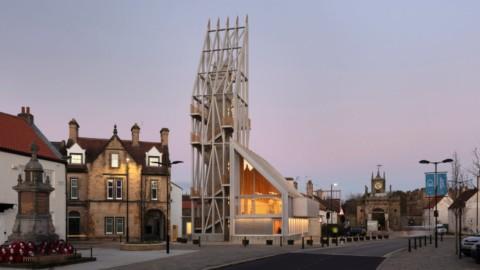 Niall McLaughlin Architects models castle entrance tower on siege engine|Niall McLaughlin Architects在攻城引擎上模擬城堡入口塔