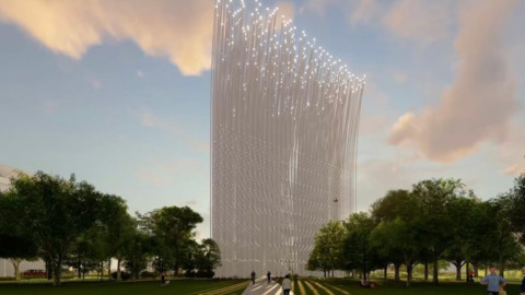 SMAR Architecture Studio designs swaying light-up tower for Silicon Valley|SMAR Architecture Studio為矽谷設計搖擺式照明塔